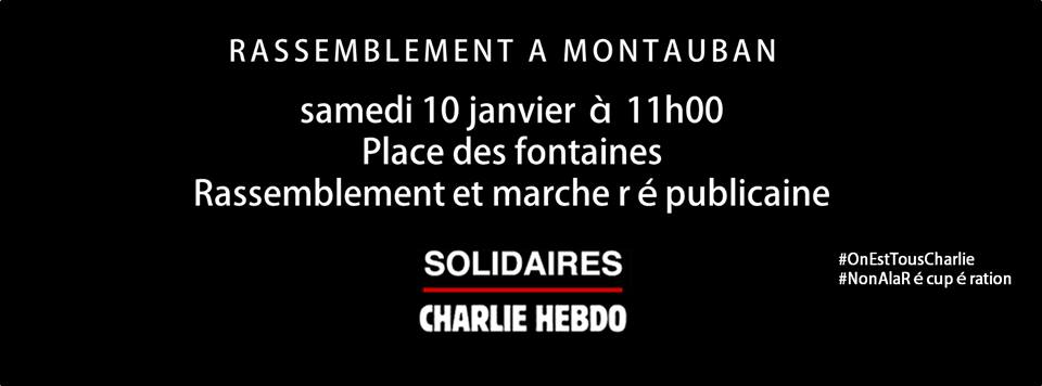 Rassemblement Montauban Charlie